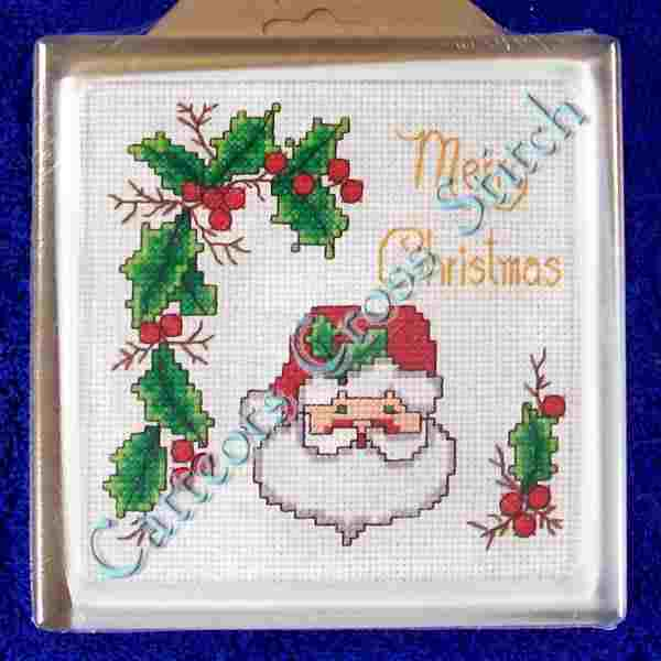 Traditional Merry Christmas Santa Trivet