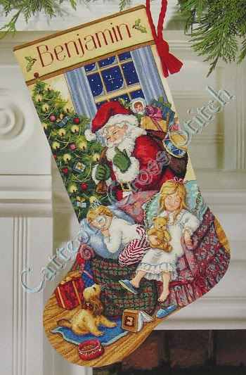 Dimensions Christmas Stocking Kits.Catteots Christmas Products