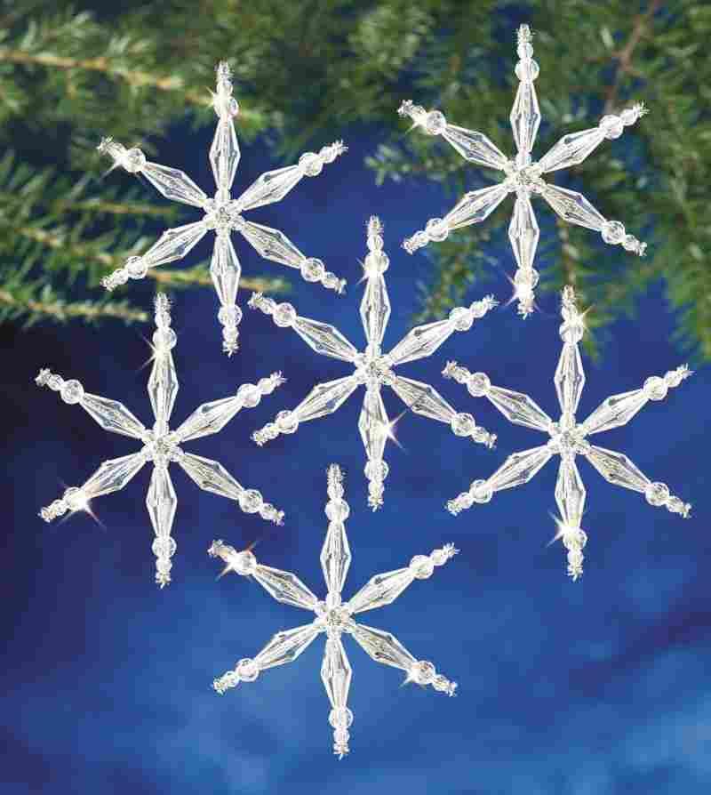 Ice Crystal Snowflakes
