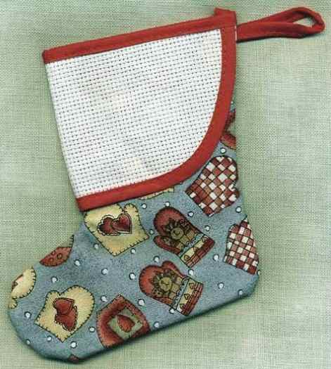 Blue with Mittens Mini Stocking