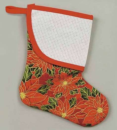 Poinsettias Mini Stocking